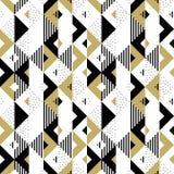 Fondo geometrico dorato di vettore del quadrato del triangolo dell'oro dell'ornamento del modello astratto Fotografie Stock Libere da Diritti