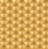 Fondo geometrico dorato senza cuciture del modello del triangolo illustrazione di stock
