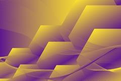 Fondo geometrico esagonale Composizione dinamica in forme Fotografie Stock