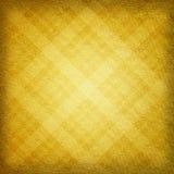 Fondo geometrico giallo del tessuto Fotografia Stock