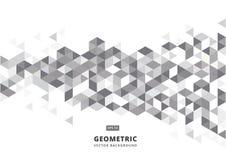 Fondo geometrico grigio astratto con i triangoli poligonali illustrazione vettoriale