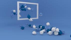Fondo geometrico minimalista di forma illustrazione di stock