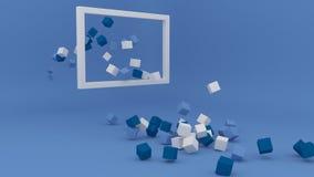 Fondo geometrico minimalista di forma illustrazione vettoriale