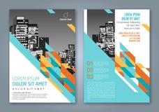 Fondo geometrico minimo astratto di progettazione del poligono di forme per la copertina di libro del rapporto annuale di affari Fotografia Stock