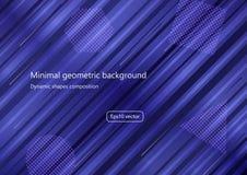 Fondo geometrico minimo Composizione dinamica in forme Vettore Eps10 Immagine Stock
