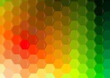Fondo geometrico multicolore di esagoni fotografia stock