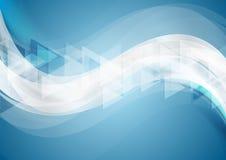 Fondo geometrico ondulato di tecnologia astratta illustrazione di stock