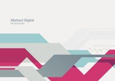 Fondo geometrico piano digitale astratto di tecnologia illustrazione di stock
