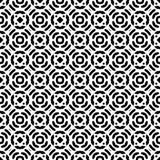 Fondo geometrico ripetuto senza cuciture in bianco e nero del modello di arte illustrazione di stock