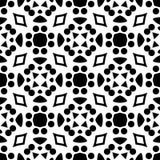 Fondo geometrico ripetuto senza cuciture in bianco e nero del modello di arte royalty illustrazione gratis