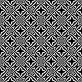 Fondo geometrico ripetuto senza cuciture in bianco e nero del modello del fiore decorativo Tessuto, libri, Illustrazione di Stock