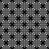 Fondo geometrico ripetuto senza cuciture in bianco e nero del modello del fiore decorativo Tessuto, libri, Royalty Illustrazione gratis