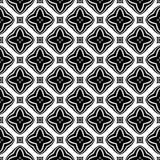 Fondo geometrico ripetuto senza cuciture in bianco e nero del modello del fiore decorativo Tessuto, libri, Illustrazione Vettoriale
