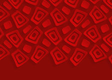 Fondo geometrico rosso dell'estratto della carta del modello Immagini Stock