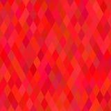 Fondo geometrico rosso luminoso Immagini Stock