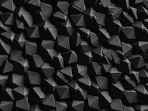 Fondo geometrico scuro astratto della parete Immagini Stock