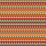 Fondo geometrico senza cuciture con stile etnico Fotografie Stock