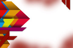 fondo geometrico variopinto dell'estratto di sovrapposizione di forma 3d Fotografie Stock