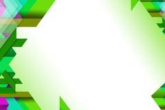 fondo geometrico verde dell'estratto di forma 3d Fotografie Stock Libere da Diritti