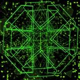 Fondo geometrico verde intenso futuristico illustrazione vettoriale