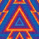 Fondo geométrico abstracto - vector el modelo inconsútil para el cartel y el aviador del baile Figuras del triángulo de Pyramide Foto de archivo libre de regalías
