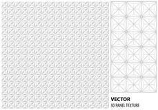 Fondo geométrico blanco abstracto 3d Textura inconsútil blanca con la sombra Textura blanca limpia simple del fondo inte del vect Fotografía de archivo libre de regalías
