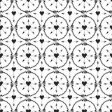 Fondo geométrico con el ornamento de las flechas Diseño de la impresión en estilo étnico Modelo inconsútil del vector de las flec Fotos de archivo