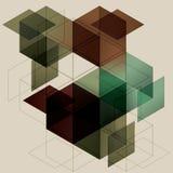 Fondo geométrico del cubo Fotografía de archivo