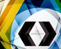 Fondo geométrico del negocio del extracto de la forma de la flecha Fotos de archivo libres de regalías