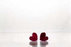 Fondo ghiacciato del cuore per la lettera romantica della carta del biglietto di S. Valentino Fotografie Stock