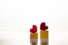 Fondo ghiacciato del cuore per la lettera romantica della carta del biglietto di S. Valentino Immagine Stock Libera da Diritti
