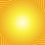 Fondo giallo arancione di torsione dello sprazzo di sole Fotografia Stock