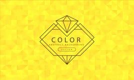 Fondo giallo astratto, strutture gialle, carta da parati gialla dell'insegna, colore giallo del poligono, illustrazione di vettor royalty illustrazione gratis