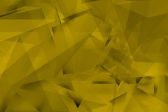 Fondo giallo con gli angoli e le ombre Fotografia Stock Libera da Diritti