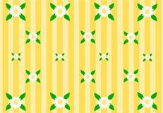 Fondo giallo con i bei fiori Immagini Stock Libere da Diritti