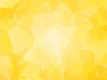 Fondo giallo con i triagles Fotografia Stock