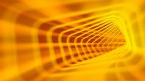 Fondo giallo dell'estratto del tunnel stock footage