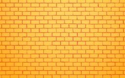 Fondo giallo dell'illustrazione di vettore del muro di mattoni illustrazione vettoriale