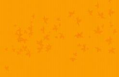 Fondo giallo dell'onda di colore con le foglie di acero illustrazione vettoriale