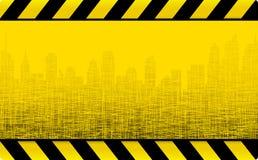 Fondo della costruzione di lerciume con la città Fotografie Stock Libere da Diritti