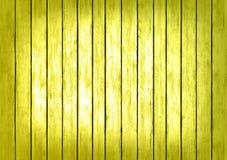 Fondo giallo della superficie di struttura dei pannelli di legno Immagine Stock Libera da Diritti