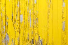 Fondo giallo di legno Immagine Stock