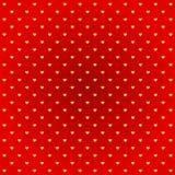Fondo giallo di rosso del cuore Immagine Stock