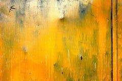 Fondo giallo di struttura della porta Fotografie Stock Libere da Diritti