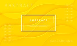 Fondo giallo dinamico e strutturato dell'estratto, per i manifesti, gli opuscoli, le insegne, le pagine Web, le coperture ed altr illustrazione vettoriale