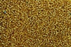 Fondo giallo dorato della perla Immagini Stock
