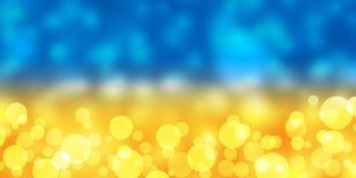 Fondo giallo e blu della sfuocatura Immagini Stock