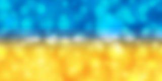 Fondo giallo e blu della sfuocatura Immagine Stock Libera da Diritti