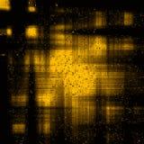 Fondo giallo e nero di lerciume d'annata Fotografia Stock