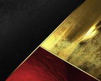 Fondo giallo e nero rosso Elemento per progettazione Mascherina per il disegno copi lo spazio per l'opuscolo dell'annuncio o l'in Immagini Stock